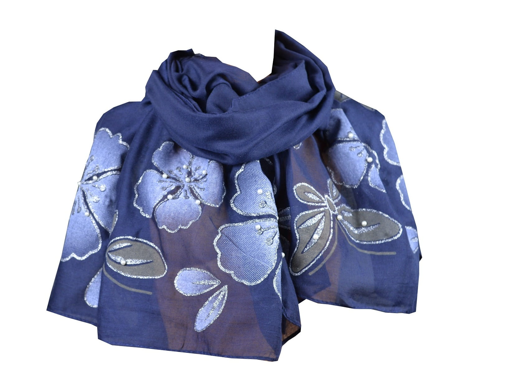 1bbc8e70096766 Szal apaszka wiosenna kwiaty i perełki - sklep apaszki & szaliki